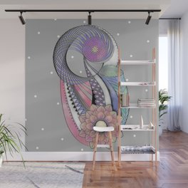 Abstract Flower Design Wall Mural
