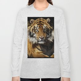 Tiger, Tiger - Big Cat Art Design Long Sleeve T-shirt
