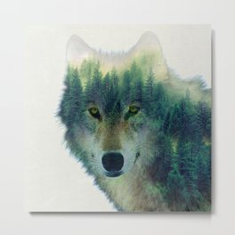 Forest Wolf Metal Print