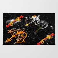 astrology Area & Throw Rugs featuring Sagittarius Astrology Sign by TrinityHawk Photography & Multimedia