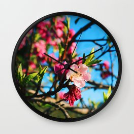 Grandma's Pink Flowers Wall Clock