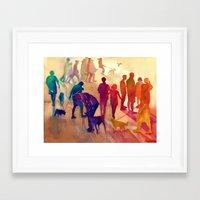 best friends Framed Art Prints featuring Best friends by takmaj