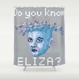 A.I. ELIZA Shower Curtain