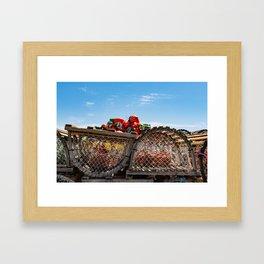 End of Lobster fishing season Framed Art Print
