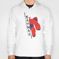 baymax Hoodies featuring BAYMAX by Sarah Anne Cimaglio
