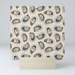 Oysters by the Dozen in Cream Mini Art Print