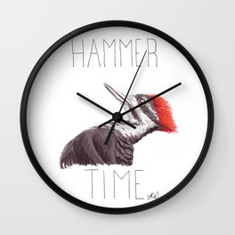 Hammer Time (Pileated Woodpecker) Wall Clock