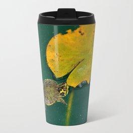 Baby Turtle And Lily Pad Travel Mug