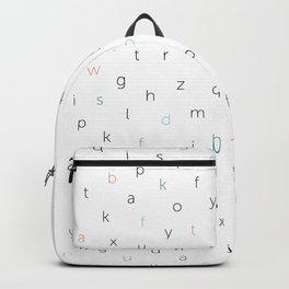 ABC Black white blue orang Backpack