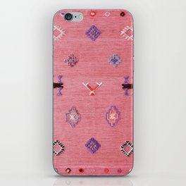 N61 - Lovely Pink Traditional Boho Farmhouse Moroccan Style Artwork iPhone Skin