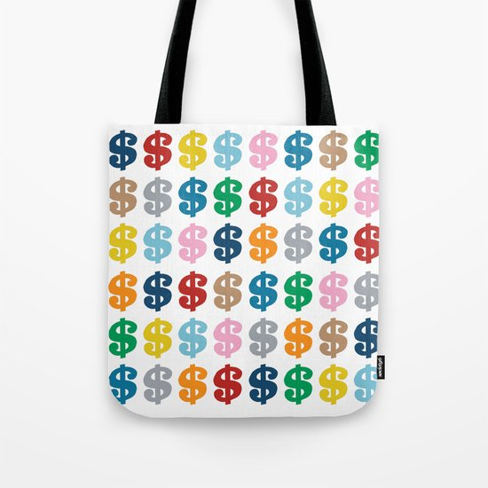 Colourful Money 48 Tote Bag