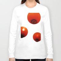 lanterns Long Sleeve T-shirts featuring Matsuri Lanterns by Mauricio Togawa
