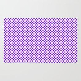 Electric Violet Polka Dots Rug