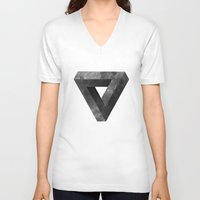 lunar V-neck T-shirts featuring Lunar by Wharton