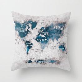 world map 13 #worldmap #map #world Throw Pillow