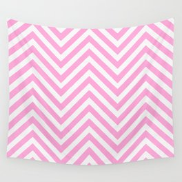 Pink Chevron Wall Tapestry