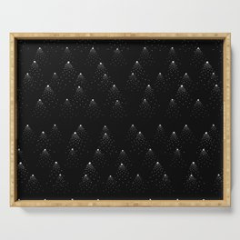poppy seed dot pattern Serving Tray