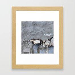 She feels, peels Framed Art Print