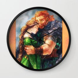 Elinor and Fergus Wall Clock