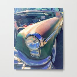 Classic Car Vintage Green Red Rusty Metal Print