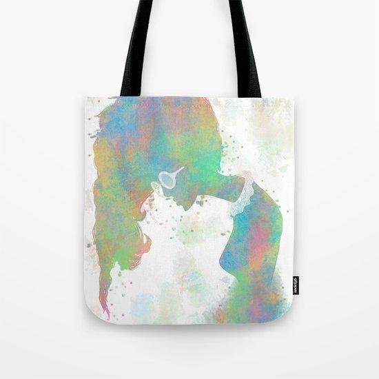 Pastel Silhouette Tote Bag