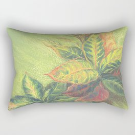 Colorful Leaves on colored paper Rectangular Pillow