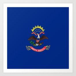 flag of north dakota,america,usa,midwest,dakotan, Roughrider,Flickertail,bismark,fargo,Peace Garden Art Print