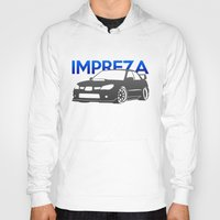 subaru Hoodies featuring Subaru Impreza 2006 by Vehicle