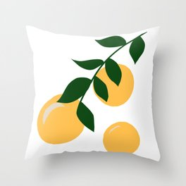 Clementine Branch Throw Pillow