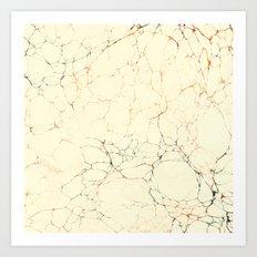 Marbled Cream Art Print