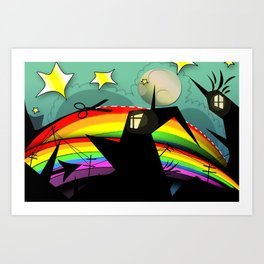 Rainbow Cut Art Print