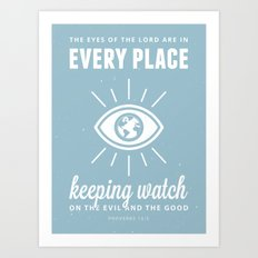 Proverbs 15:3 Art Print