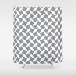 Grey Op Art Pattern Shower Curtain