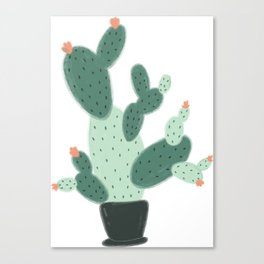 Cute Cactus Canvas Print