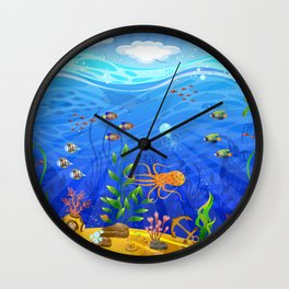 Underwater world Wall Clock