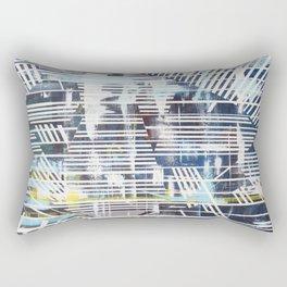 Lines blue Rectangular Pillow
