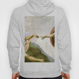 The Creation of Adam Painting by Michelangelo Sistine Chapel Hoody