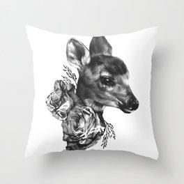 Fawn & Flora I Throw Pillow