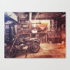 Basement Bike Canvas Print