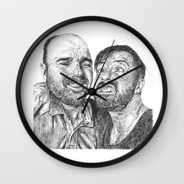 Karl Pilkington - Ricky Gervais, we need more of them! Wall Clock