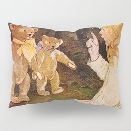 """Goldilocks and the Bears"" by Jessie Willcox Smith Pillow Sham"