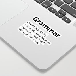 The Grammar Definition Sticker