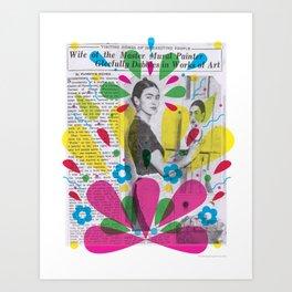 Dabbles in Art, you say? Art Print