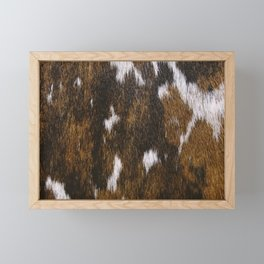 Rustic Cowhide Spots Framed Mini Art Print