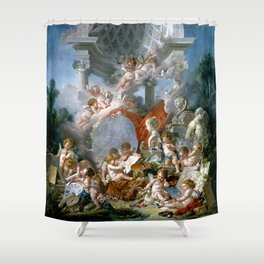 Geniuses of the Arts - Francois Boucher Shower Curtain