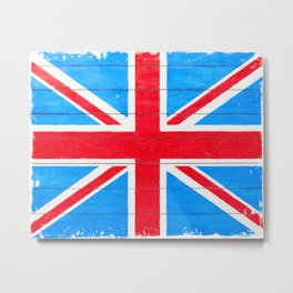 Rough And Worn British Union Jack Flag Metal Print