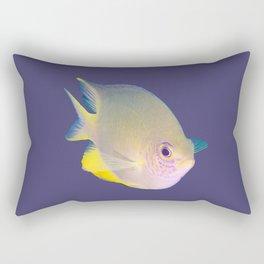 Determined damsel fish Rectangular Pillow