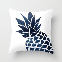 Pineapple, Big Blue, Denim Navy Deko-Kissen