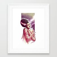 bride Framed Art Prints featuring BRIDE by Lorena Carvalho
