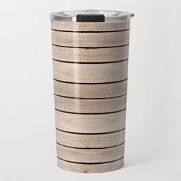Weathered boards texture abstract Travel Mug